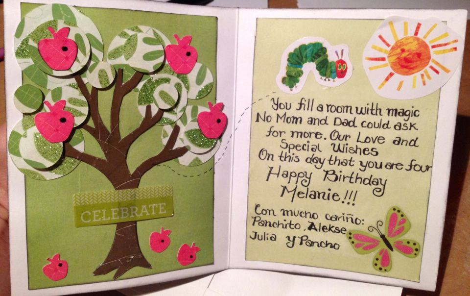 The Very Hungry Caterpillar Birthday Card Scrapbook And Card