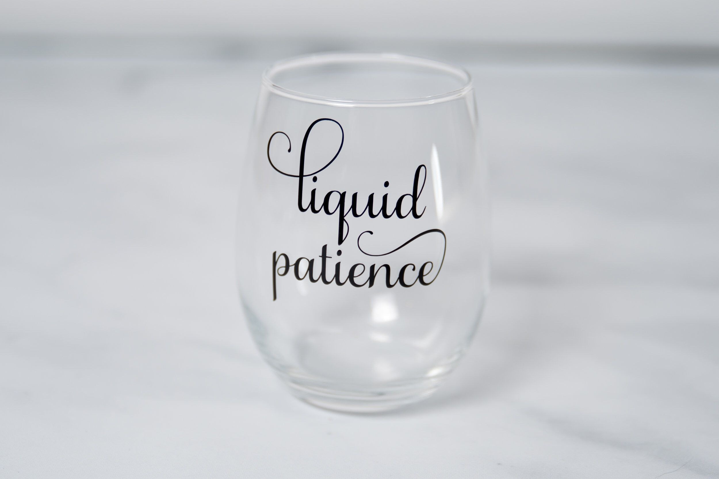 Liquid Patience Quote Wine Glass For Mom Stemless Wine Glasses Funny Mom Gifts Mothers Day Gift Wine L Funny Wine Glasses Funny Wine Glass Wine Glass Sayings