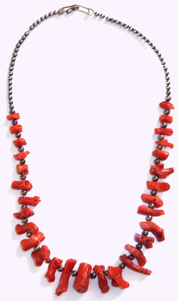 14++ Red coral native american jewelry info
