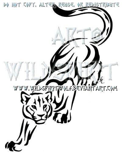 Tribal Mountain Lion | Estarcido | Pinterest | Tatuajes, Estarcido y ...