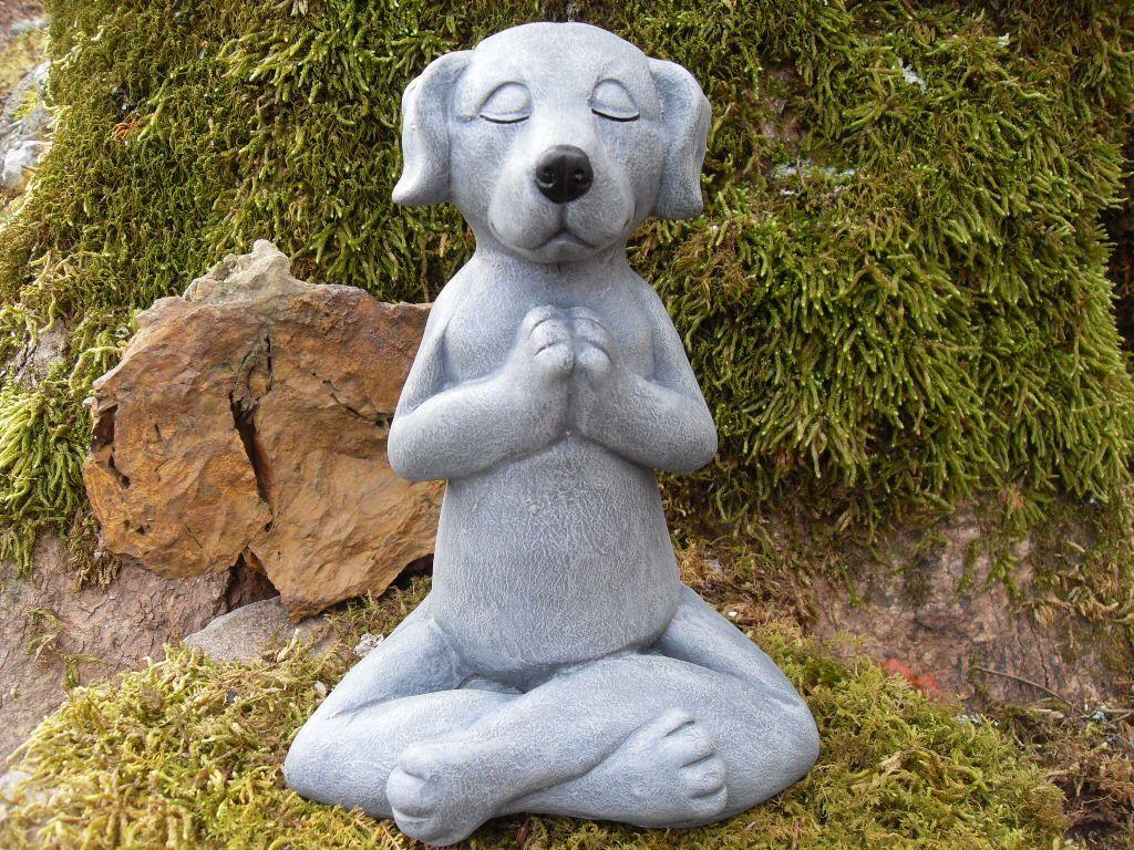 Meditating Dog Statue,Yoga Dog Statue,Zen Statue,Buddha Dog Statue,Outdoor