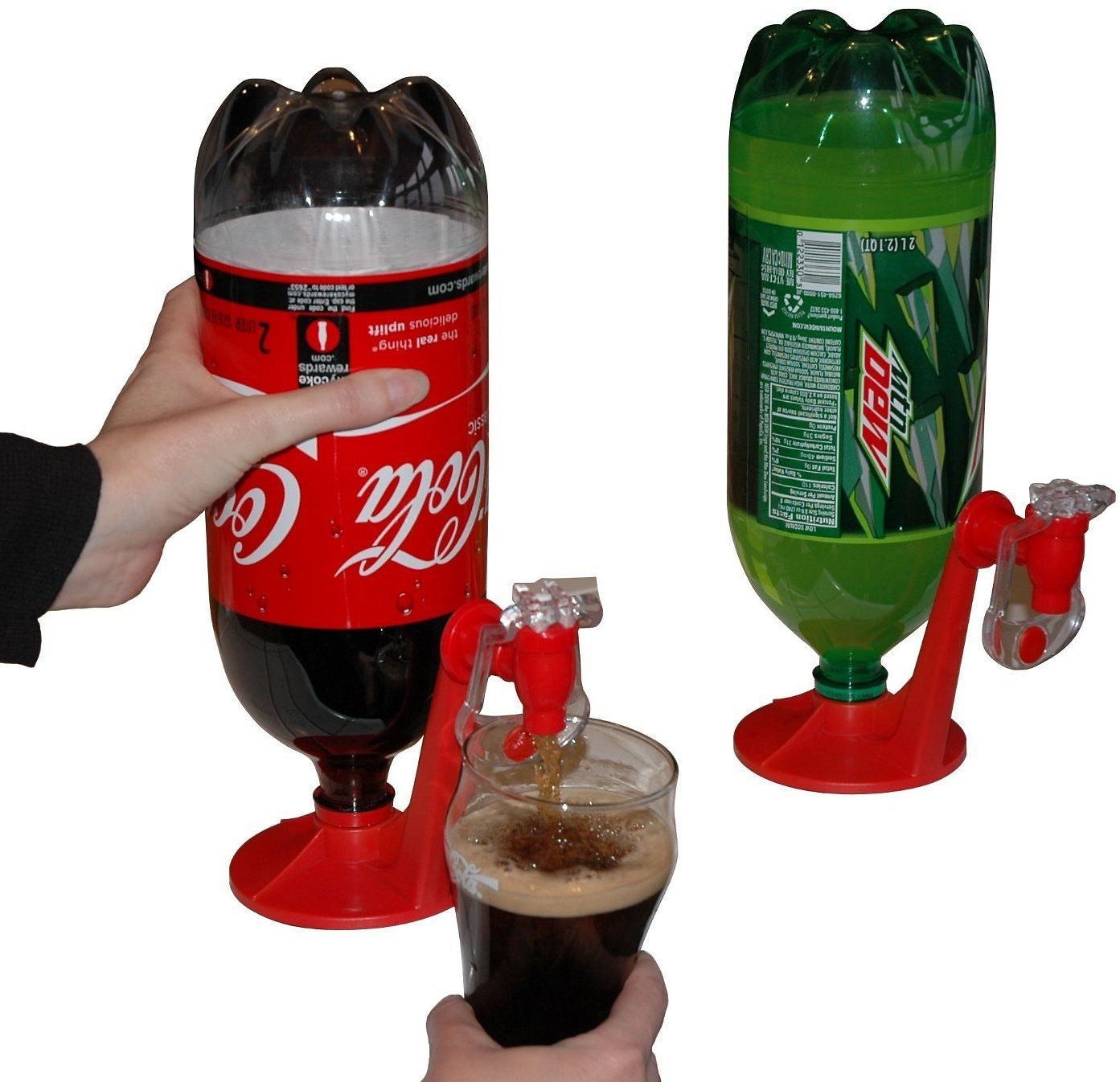 Fizz Saver 2 Liter Soda Soft Drink Dispenser, Red
