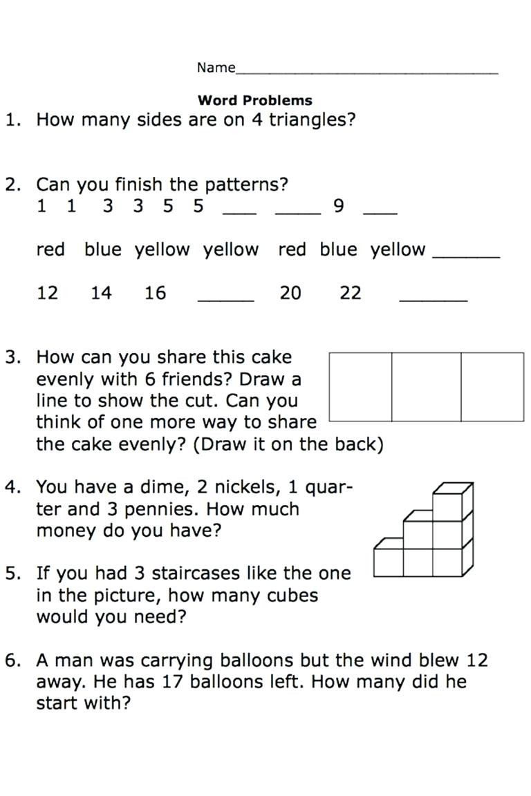 Kindergarten Subtraction Word Problems Worksheets Worksheet For Kindergarten Word Problem Worksheets Math Fact Worksheets Addition Words