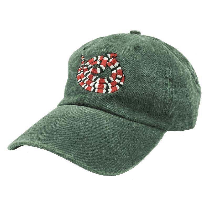 f370ad0bc461a Gucci Snake Dad Hat - Green Denim
