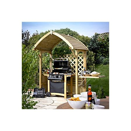 Barmouth Wooden Apex Arbour Departments Diy At B Q Outdoor