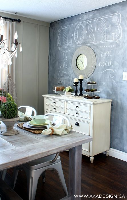 Delicieux Trend To Love: Dining Room Chalkboard Wall