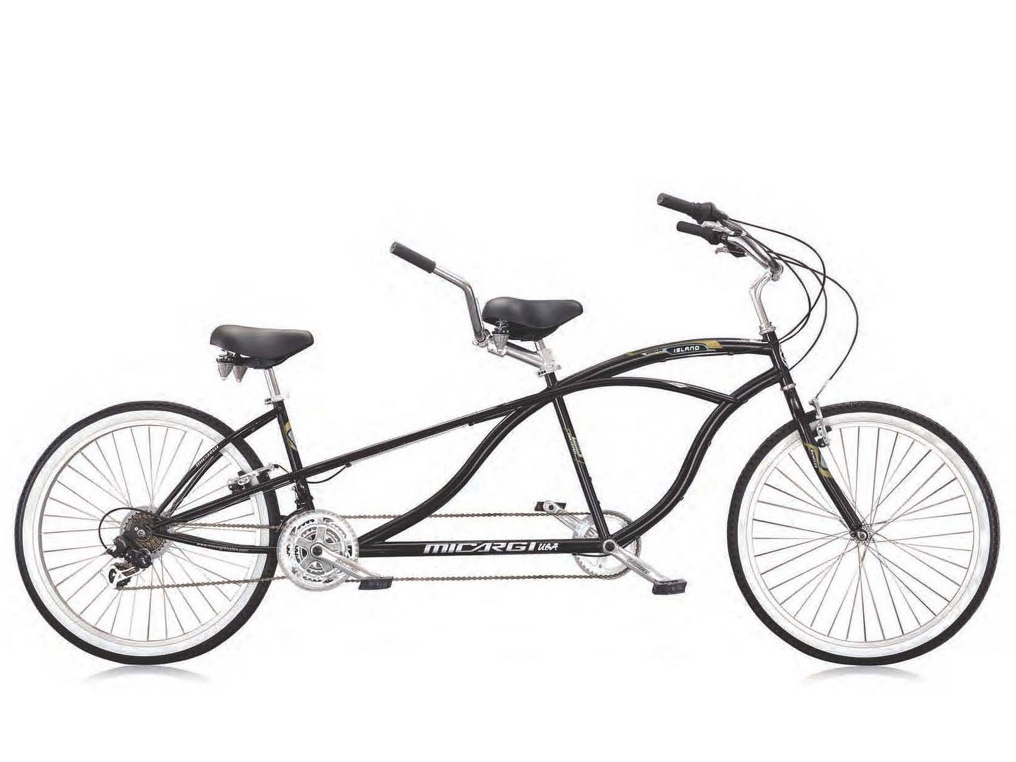 Micargi island 26 tandem beach cruiser shimano 21 speed bike black