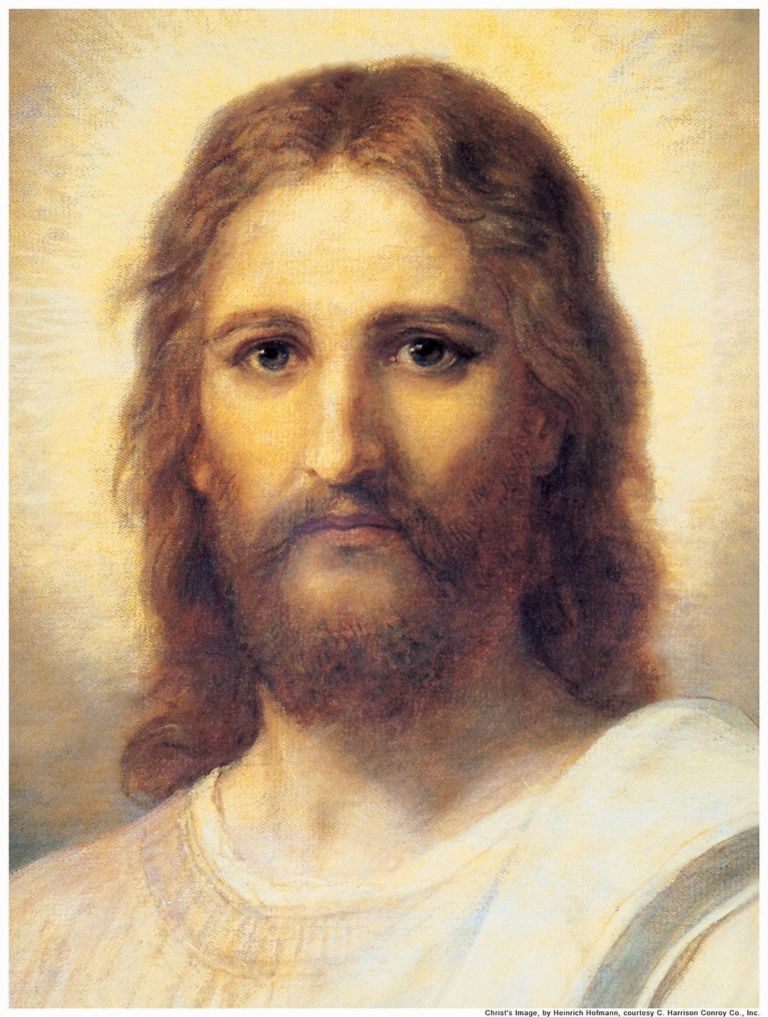 Heinrich Hofmann Portrait of Christ Vintage Lithograph Art Print