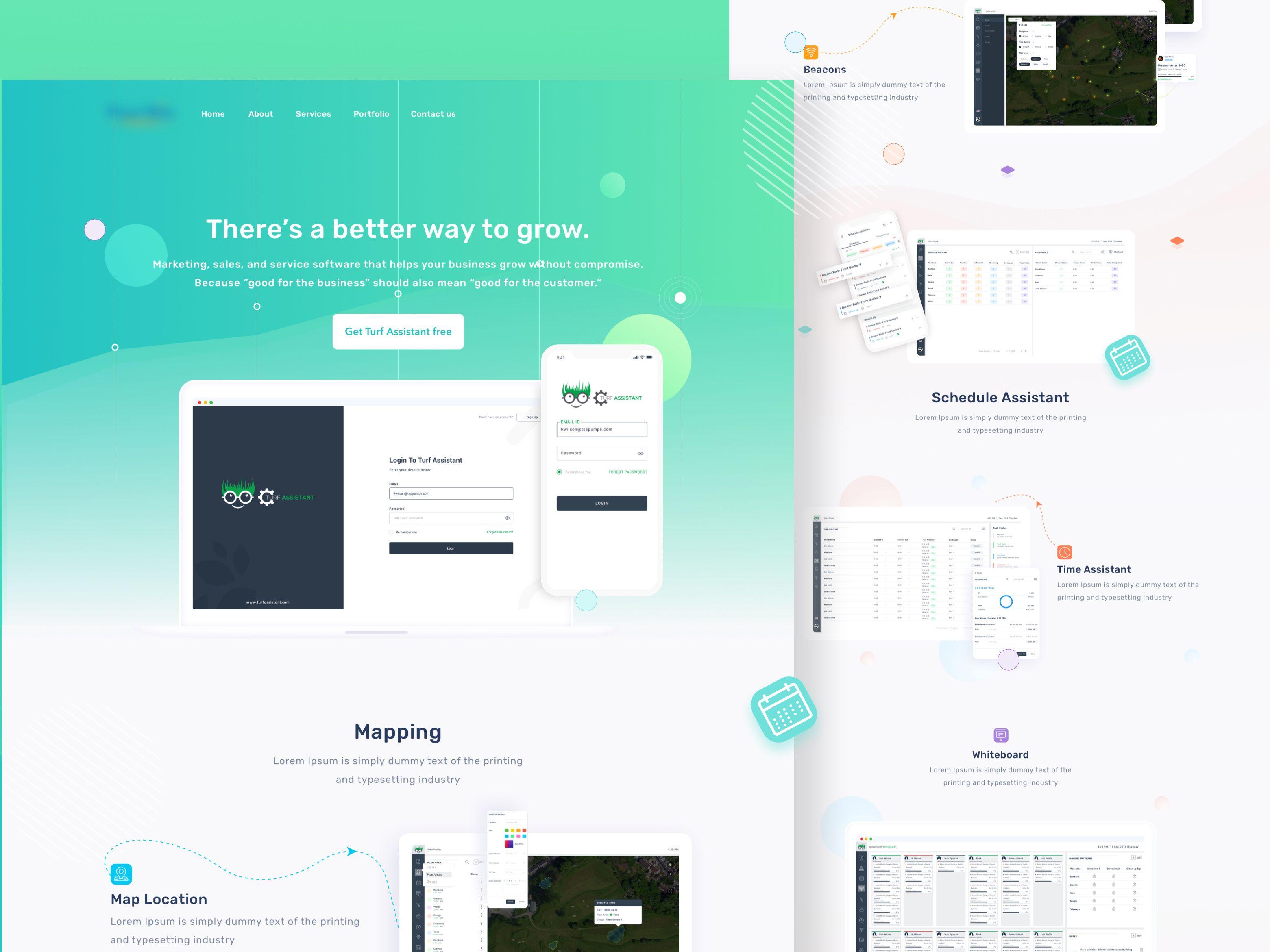 Mockup Landing Page Landing Page Web Design Mockup