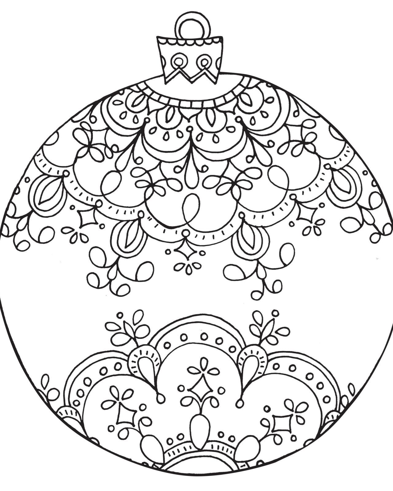 Coloring pages xmas decorations - Free Printable Coloring Pages For Adults