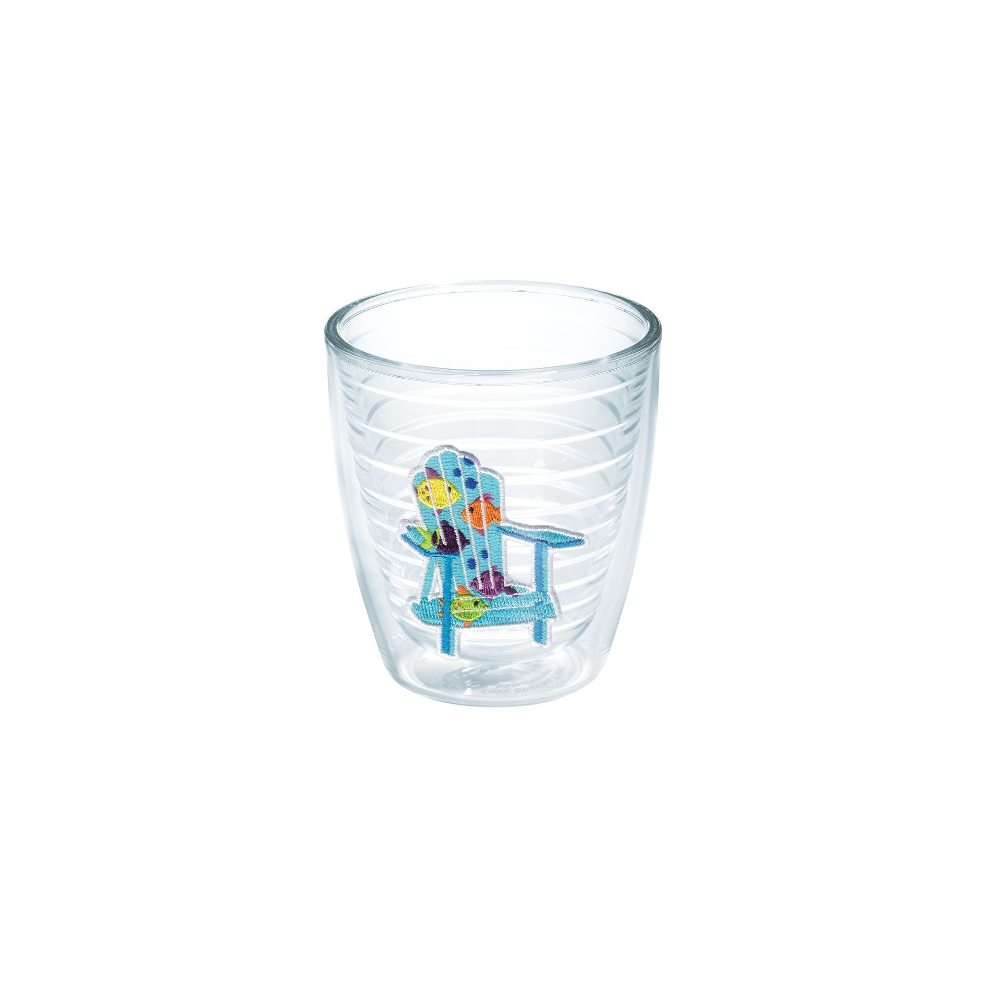 Sun and Surf Adirondack Chair Tropical Fish 12 Oz Tumbler
