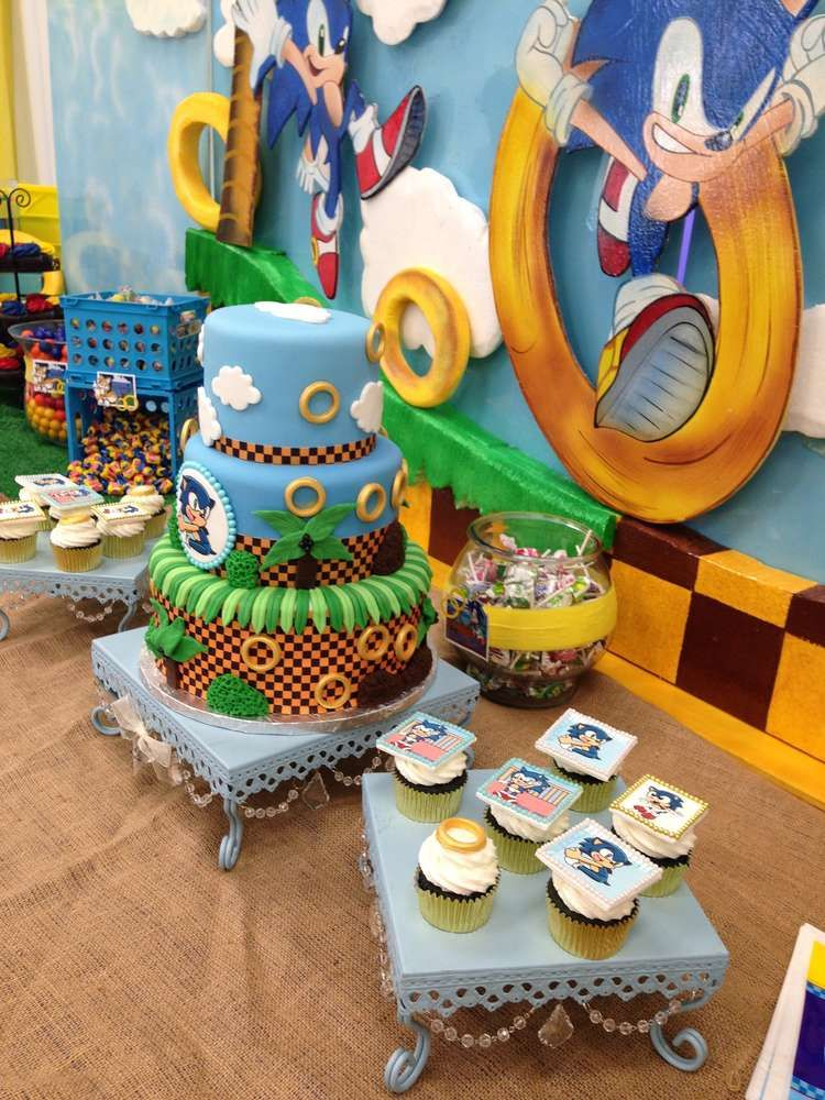 Sonic The Hedgehog Birthday Party Ideas Photo 8 Of 24 Sonic Birthday Parties Sonic Birthday Hedgehog Birthday