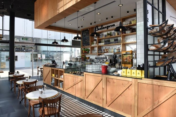 Biga bakery caf by eti dentes interior design kfar for Bakery interior design