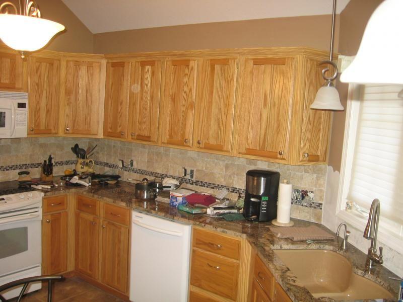 Favorite 30 Kitchen Backsplash Ideas With Oak Cabinets And