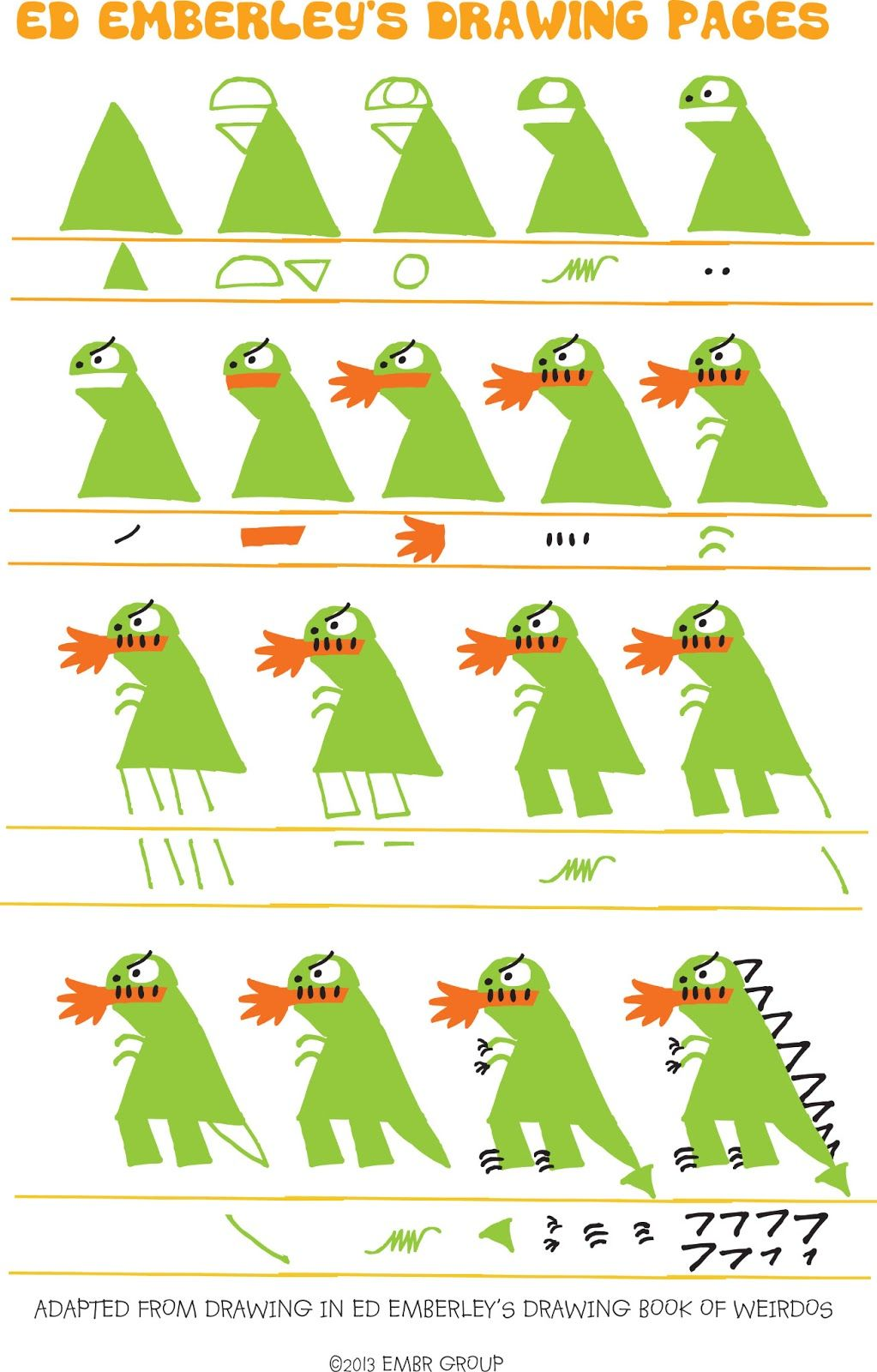 Ed Emberley\'s Drawing Pages   illustration / sketchbook   Pinterest ...