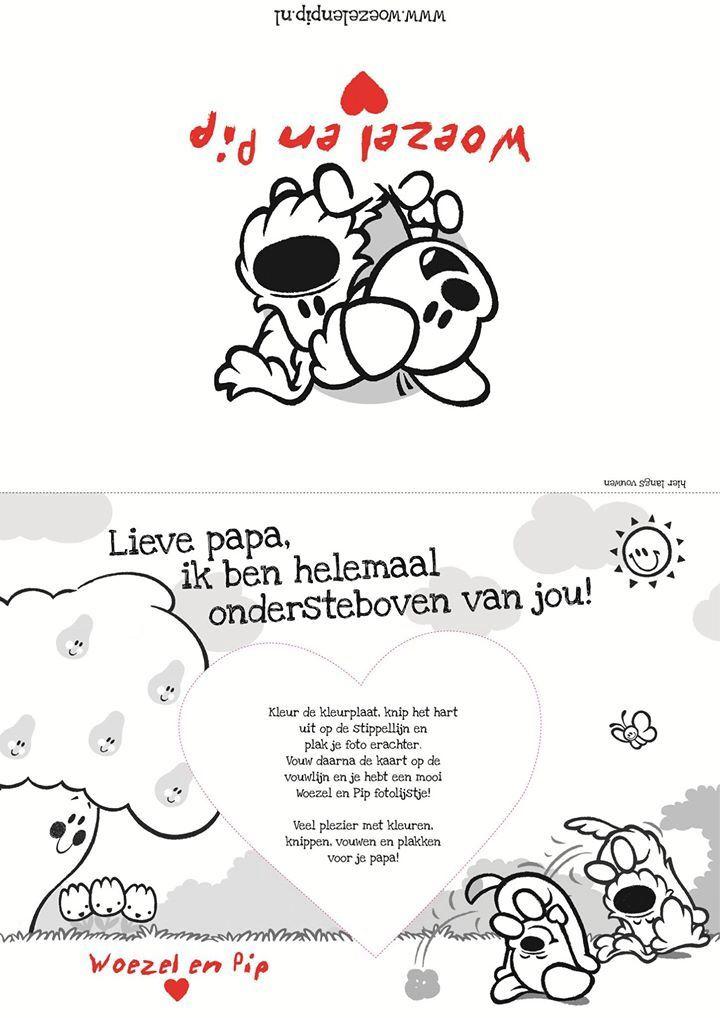Kleurplaten Vaderdag Voor Peuters.Woezel En Pip Maken Pinterest Vaderdag Moederdag En Kleurplaten
