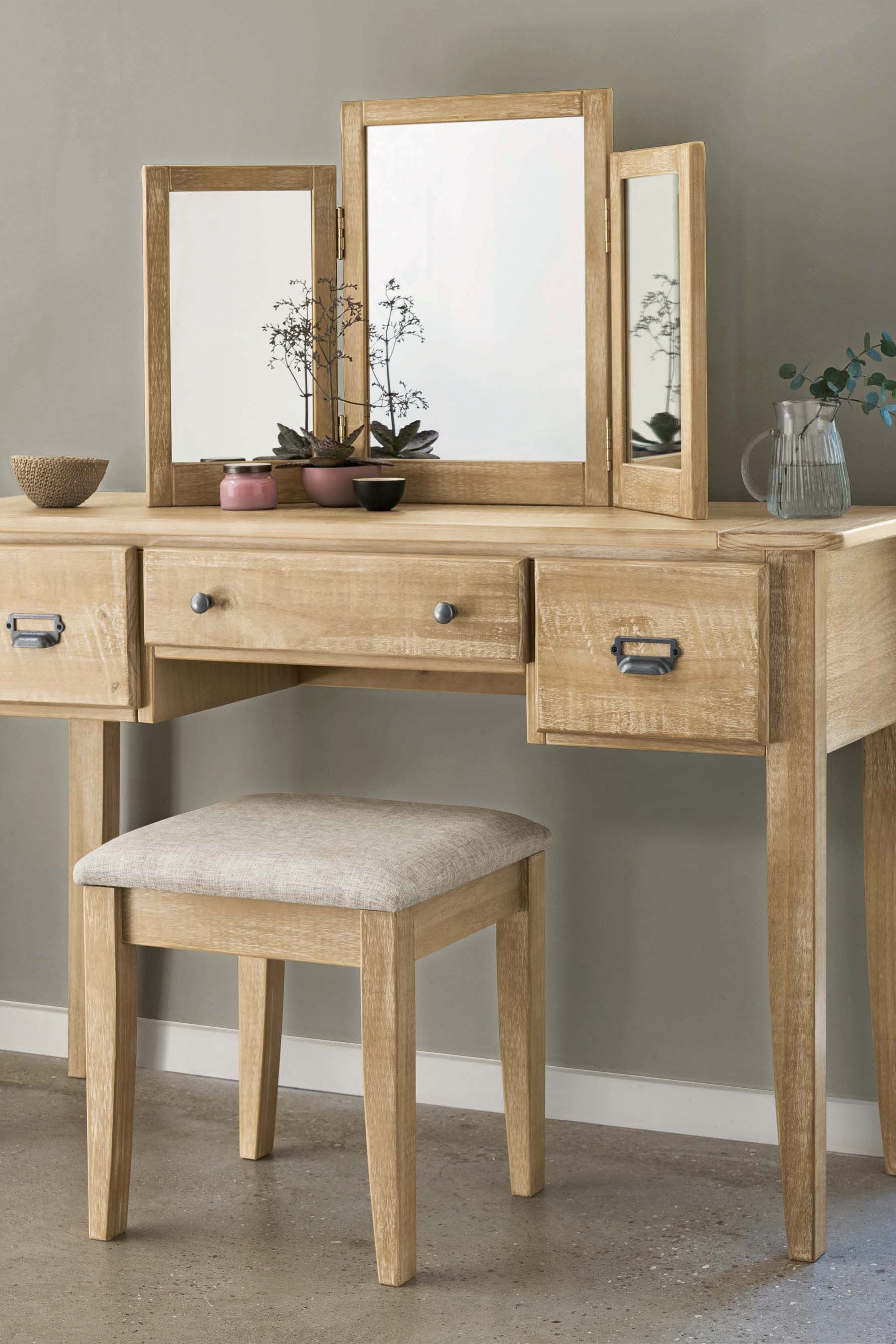 7ae872e2ac Next Huxley Dressing Table Set - Natural | Products | Dressing table ...