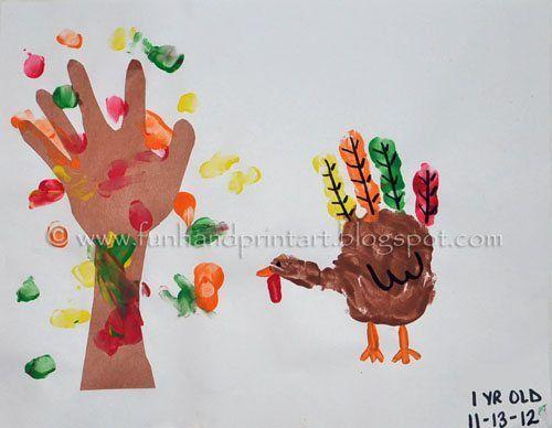 Making Memories: Thanksgiving Turkey and Fall Tree Handprint Art Keepsake #falltrees