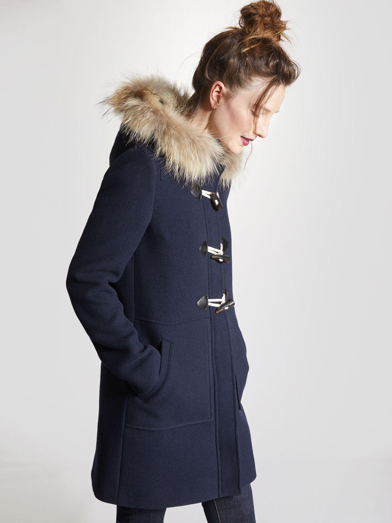 Duffle coat femme | Manteaux | Duffle coat femme, Cuir femme