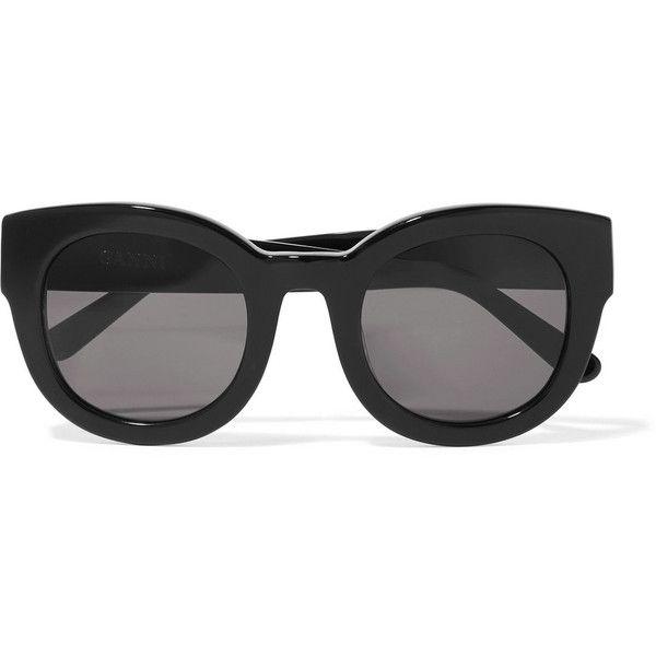 4db3d5b78f80 GANNI Fay cat-eye acetate sunglasses ($195) ❤ liked on Polyvore featuring  accessories, eyewear, sunglasses, sunglass, black, acetate sunglasses, ...