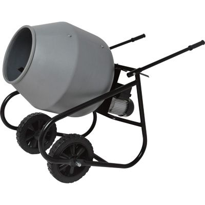 Klutch Portable Electric Cement Mixer 2 Cubic Ft. Poly ...
