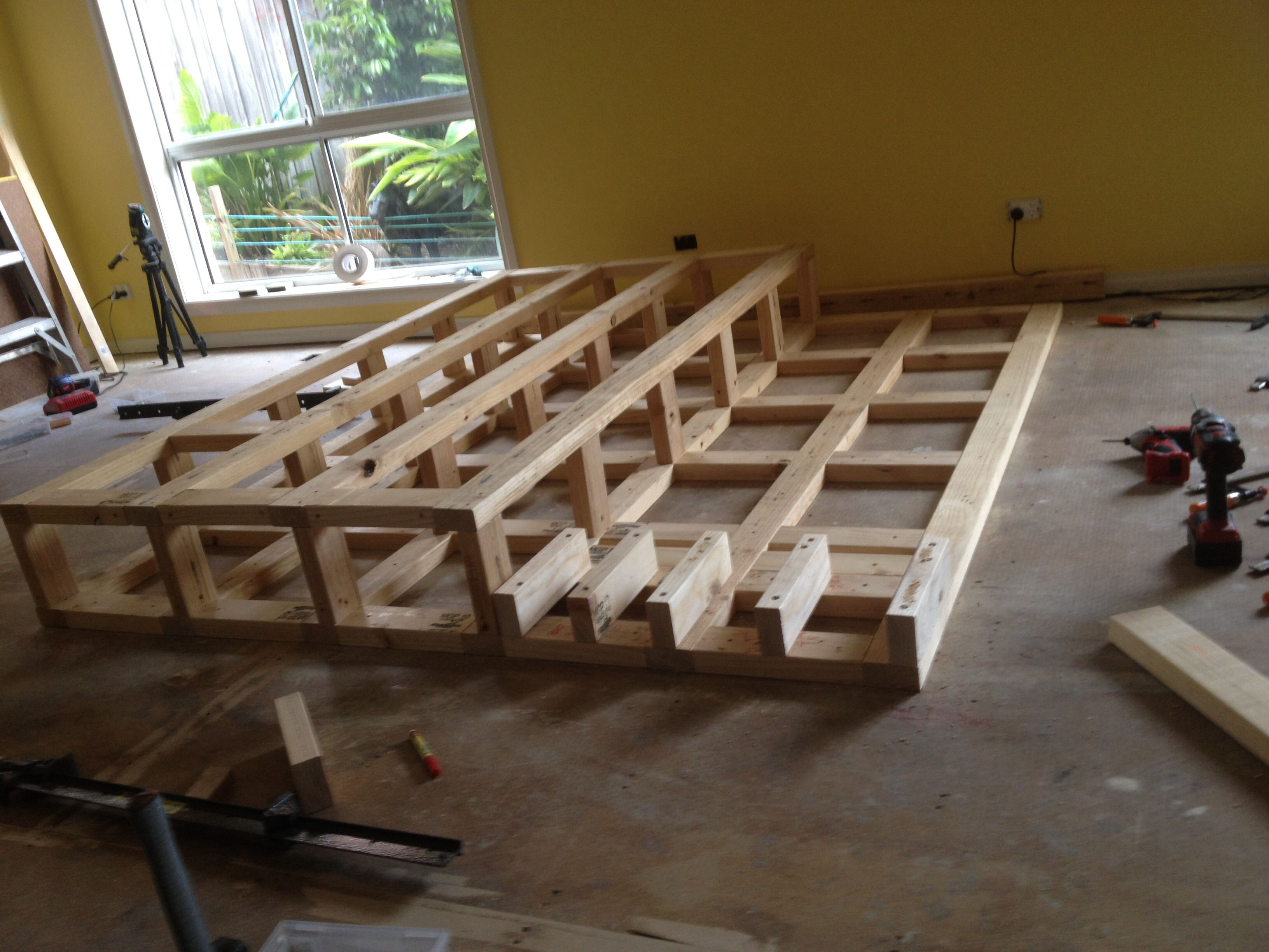 Raised Platform Construction Decorating Your Home Family Movie Room Studio Build