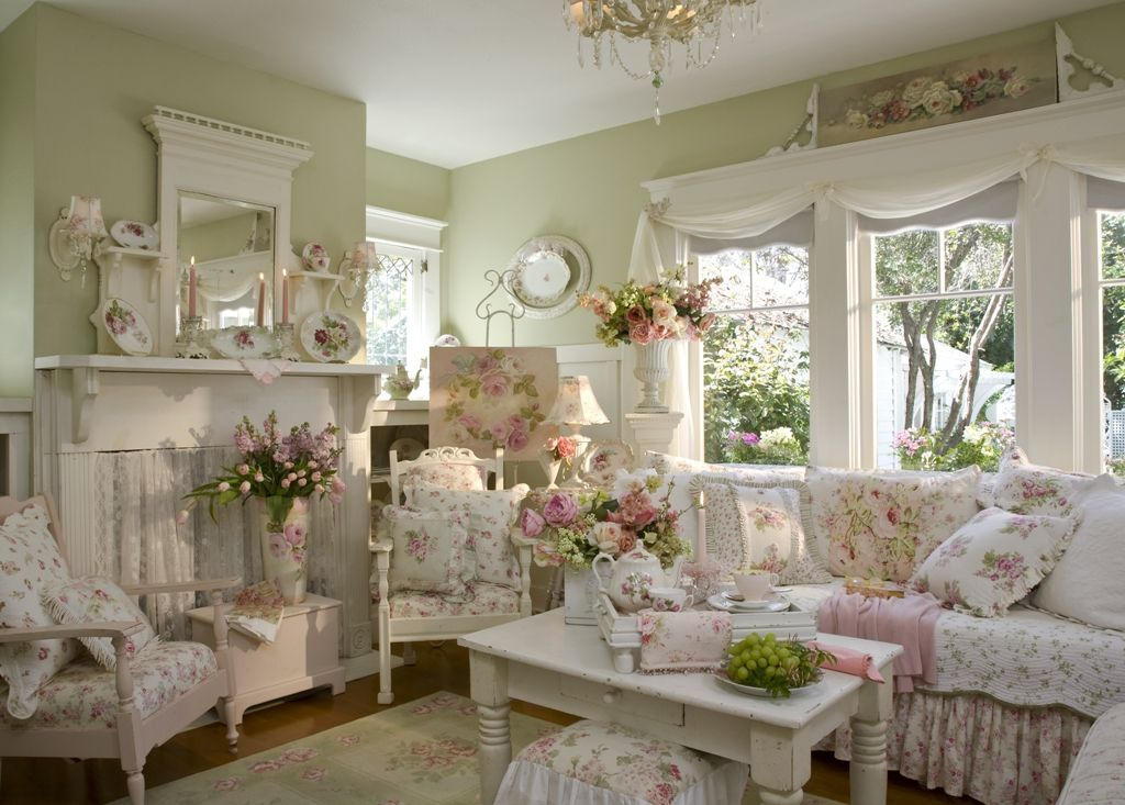 Take Away All The Crazy Laura Ashley Like Flowers And Add Just Soft Pink  Throw Pillows, Etc.and I Would Be In Love With This Quaint Sitting Area. Part 82