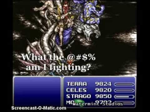 What am I fighting?  Final Fantasy VI.