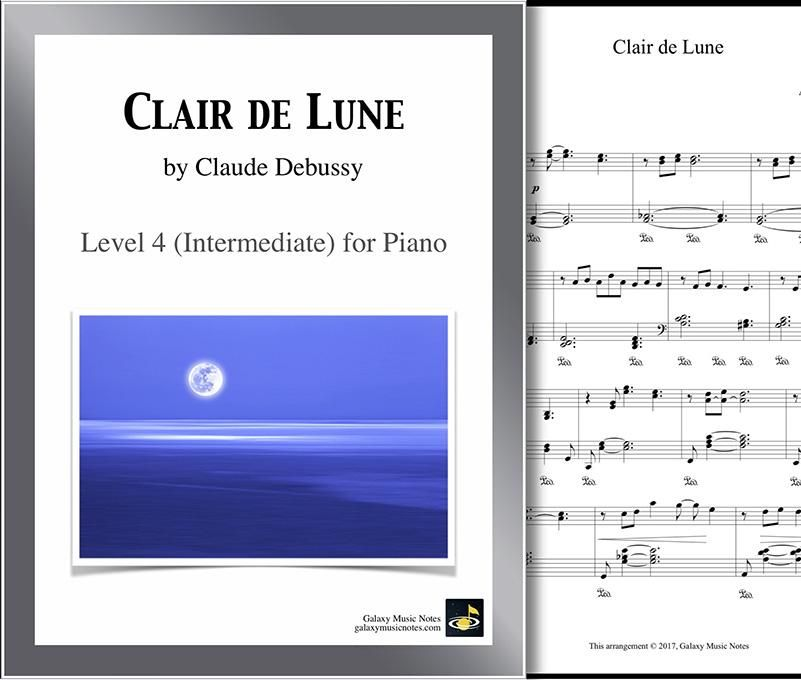 Clair De Lune Level 4 Piano Sheet Music Piano Sheet Music