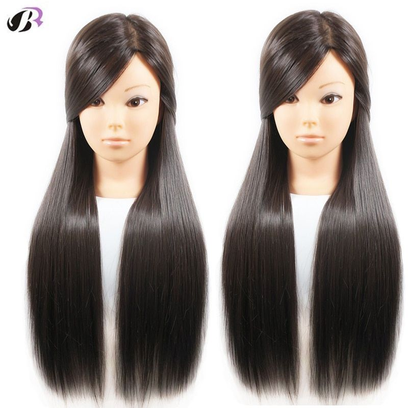 Free Shipping 26 Training Mannequin Head For Hairdressers Maquiagem Training Head With Wigs Practise Hairstyles Dummy Doll Head Hair Mannequin Hair Styles Hairstyle