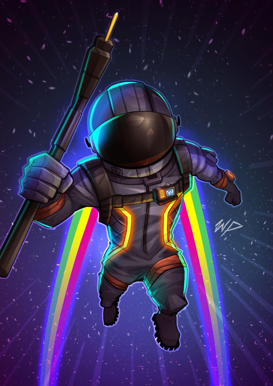 Artstation Fortnite Dark Voyager William Puekker Battle Royale Game Gaming Wallpapers Epic Games Fortnite