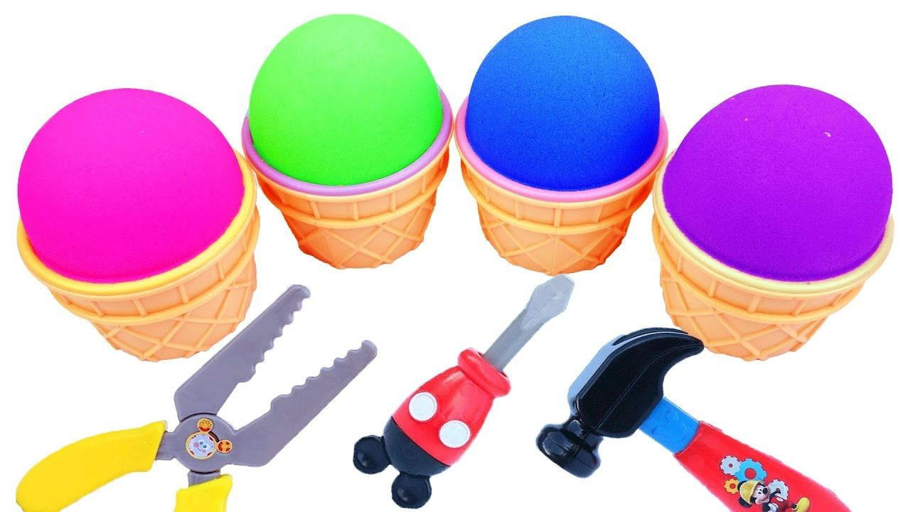 Kinetic Sand Ice Cream Surprise Toys Disney Princess Super Mario TMNT Su...