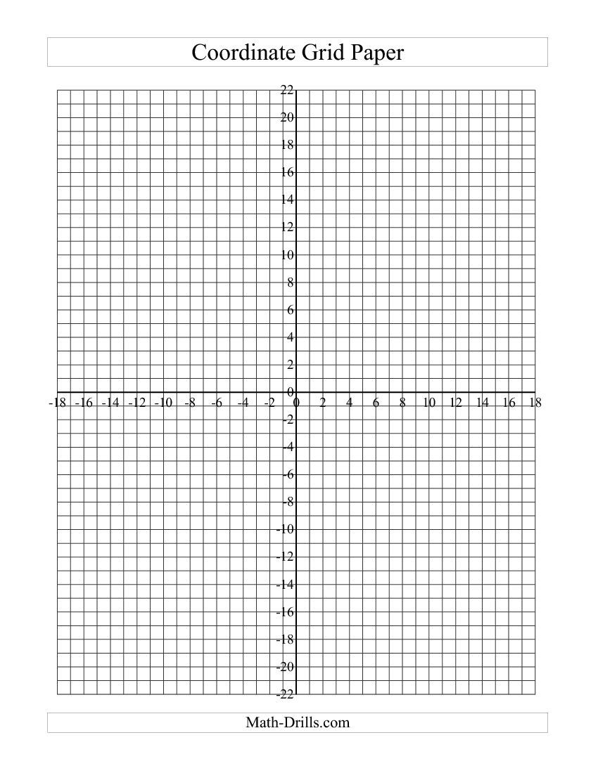 Coordinate Grid Paper B Middle School Math Basic