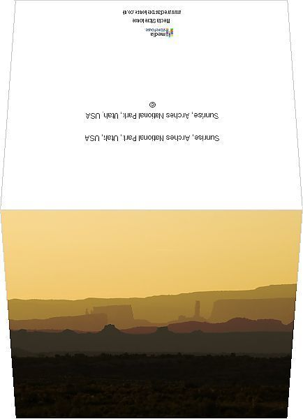 Greetings Card-Sunrise, Arches National Park, Utah, USA-6x8 inch Greetings Card made in the UK