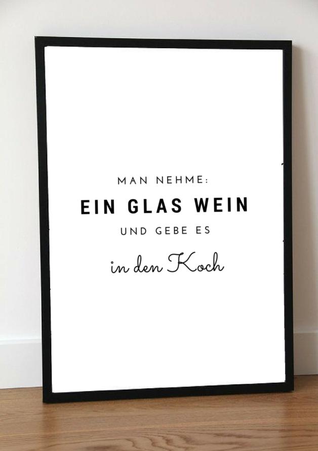 Typo Poster für Köche und Weinliebhaber / artprint for the ...