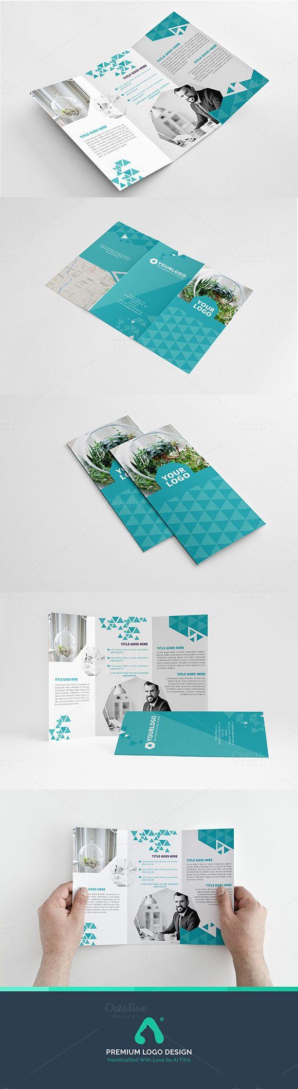 Toska Trifold Template by Al Fitra on Creative Market Flyer Design aus dem Kanto...