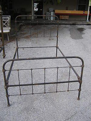 Antique Iron Brass Twin Bed Head And Foot Board With Rails Iron