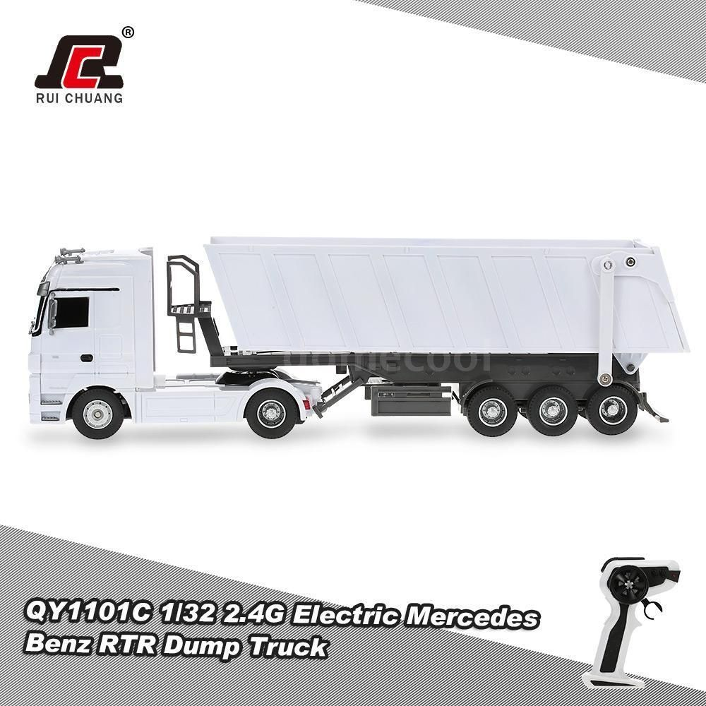 G Electric Ruichuang Qy1101c 1 32 24g Electric Mercedes Benz Dump Truck Rtr
