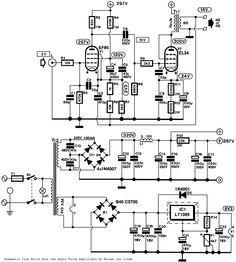EL34 Single Ended (SE) Tubo de amplificador Schematic
