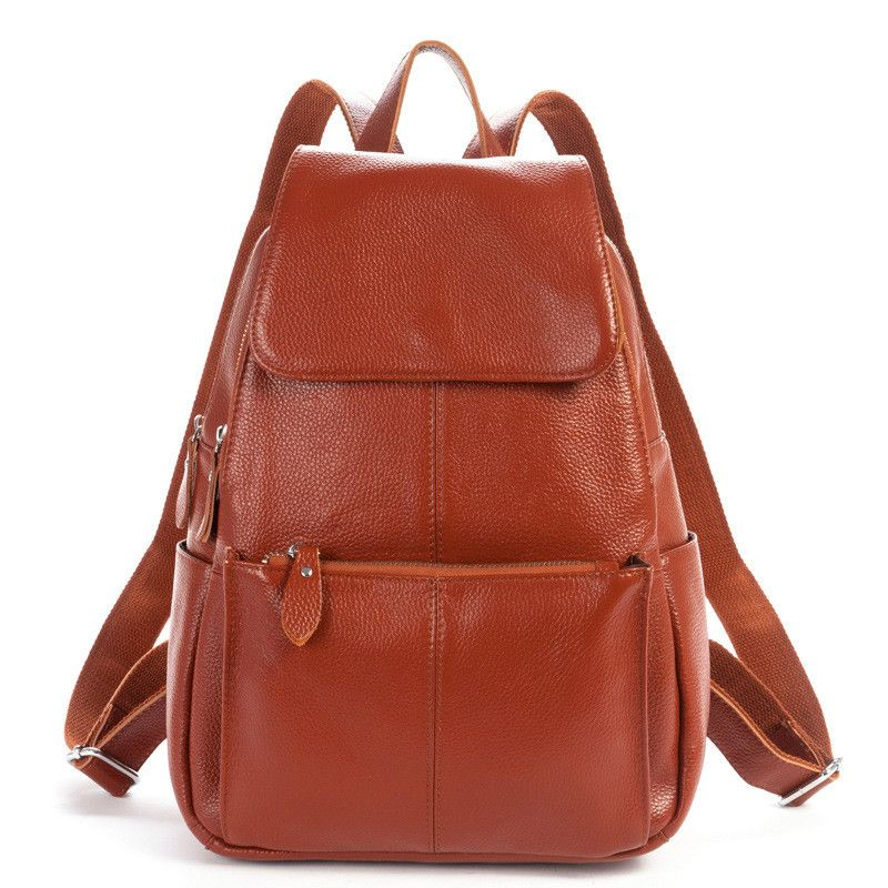 cda39b3959 Backpack Nautral Soft Real Leather Backpacks Genuine First Layer Cow Leather  Top Layer Cowhide Women Backpack Tote Bags Review