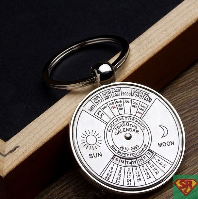 2010 To 2060 Years Calendar Metal Key Chain Personalized Gift Key Ring