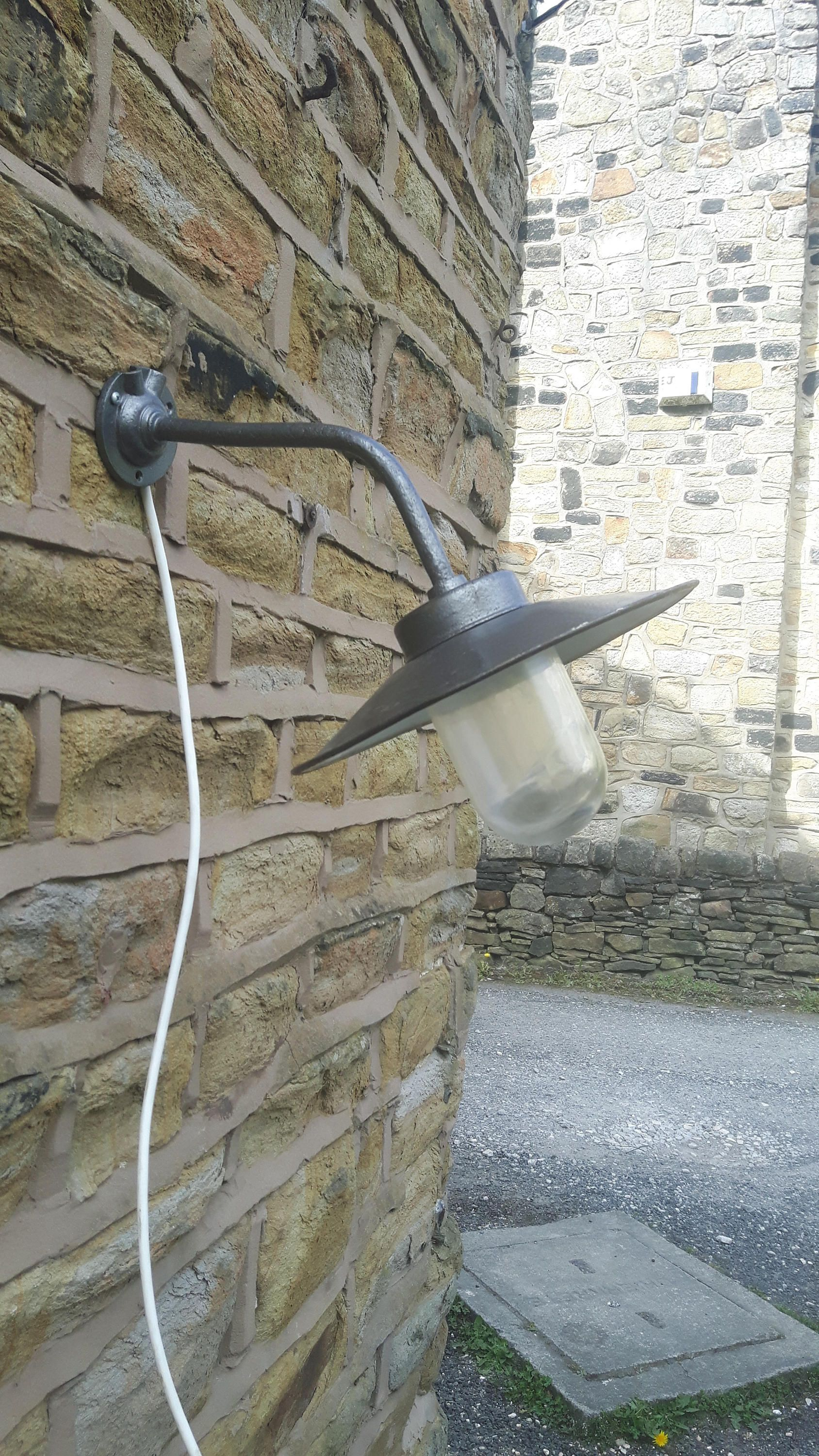 Vintage antique french garden outside outdoor wall light fishermans