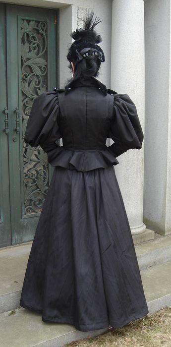 Madame Modiste Historic Costuming 1890 S Half Mourning
