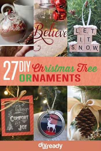 35 spectacularly easy diy ornaments for your christmas tree diy 27 spectacularly easy diy christmas tree ornaments see more at httpdiyready solutioingenieria Image collections