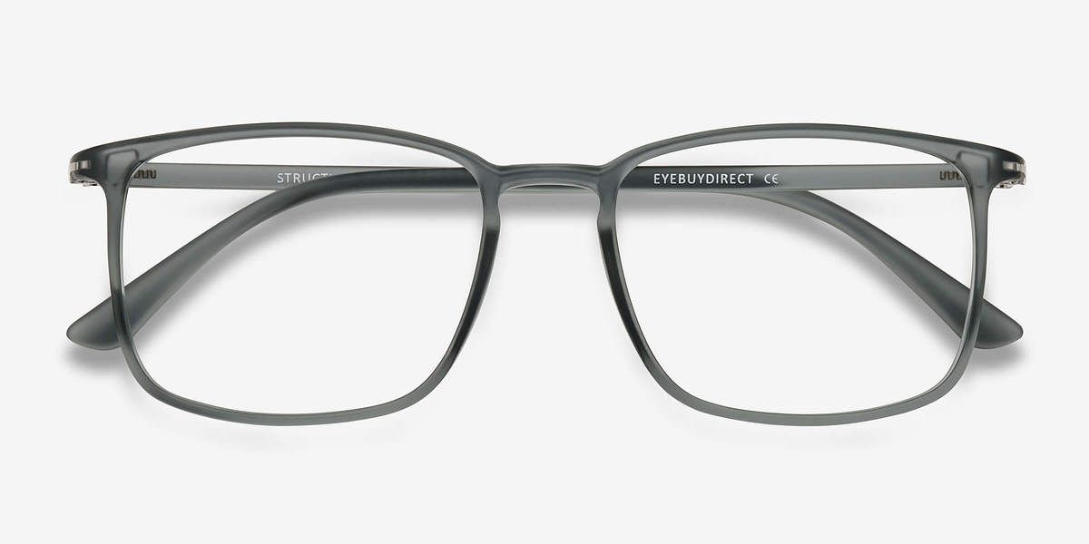 Structure Frosted Clear Plastic Eyeglasses from EyeBuyDirect ...