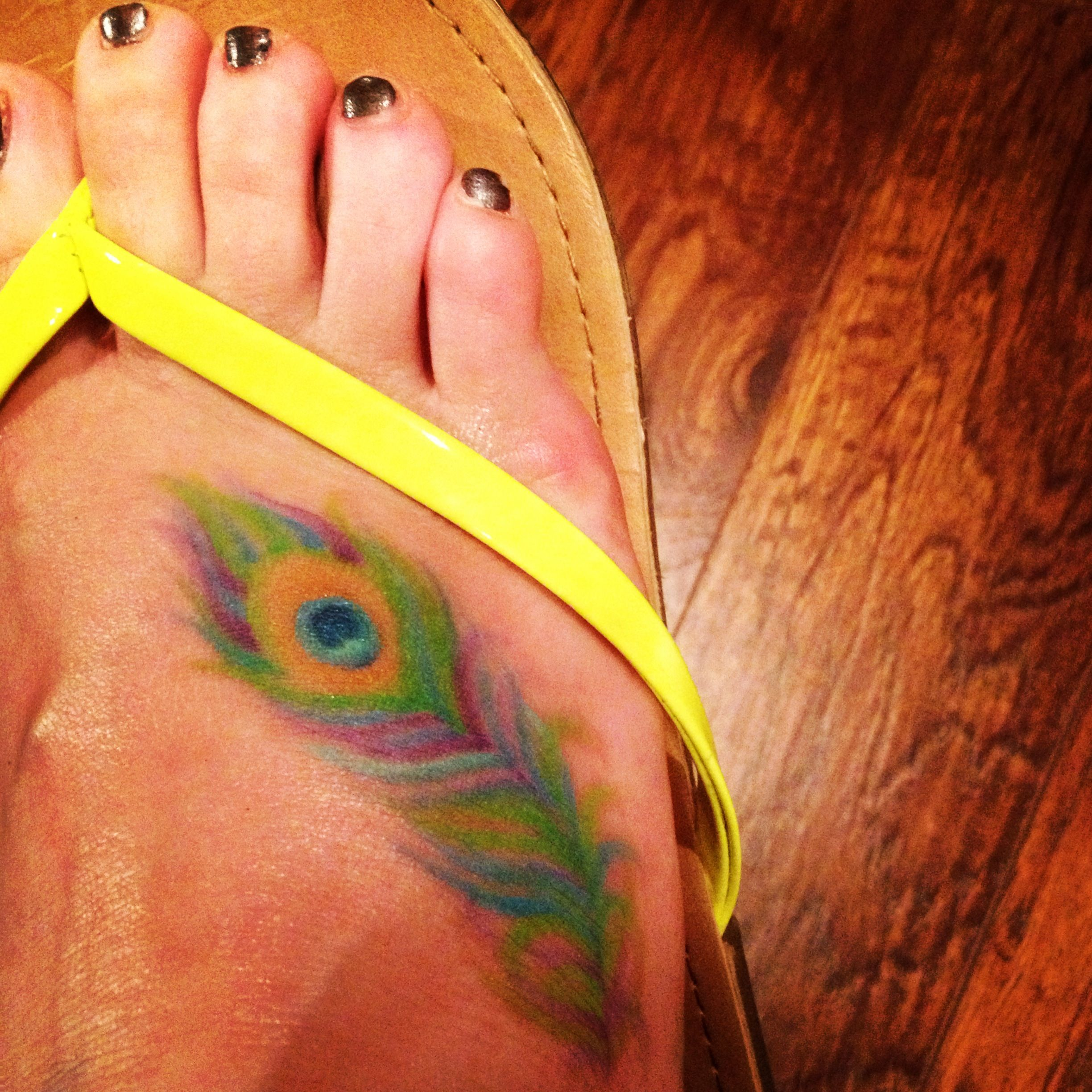 My peacock feather i tattoo womens flip flop peacock