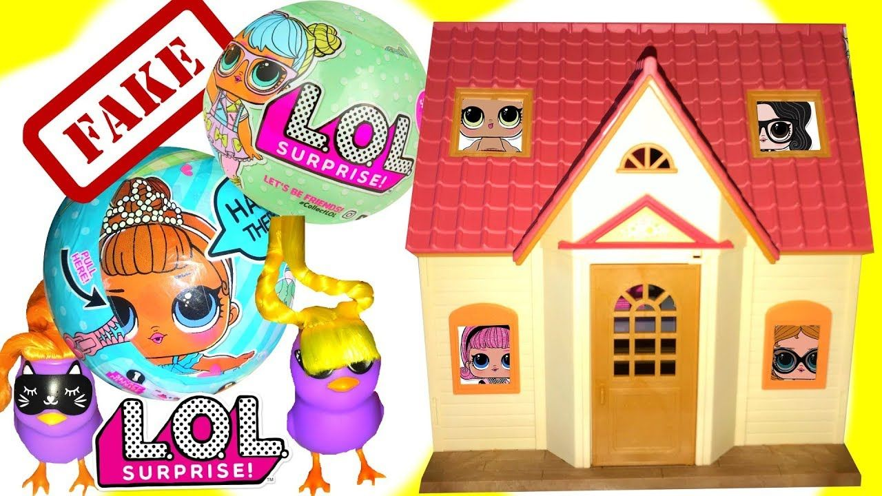 Fake Lql Surprise Dolls L O L Ball Opening Funny Silly Talking