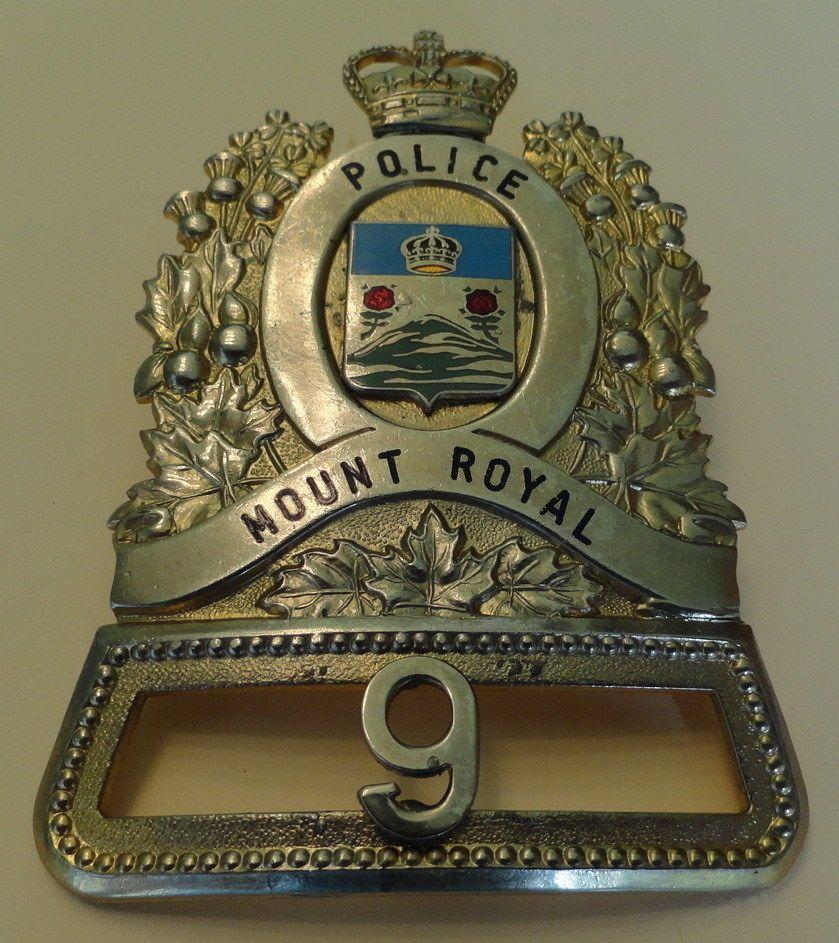 Police cap badges ga rel hat badges page 1 garel - Obsolete Quebec Canada Mount Royal Police Hat Badge Montreal Ebay
