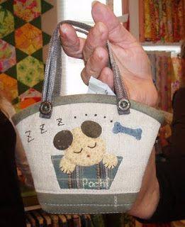 A cute dogbag made by Eva Johansen DK