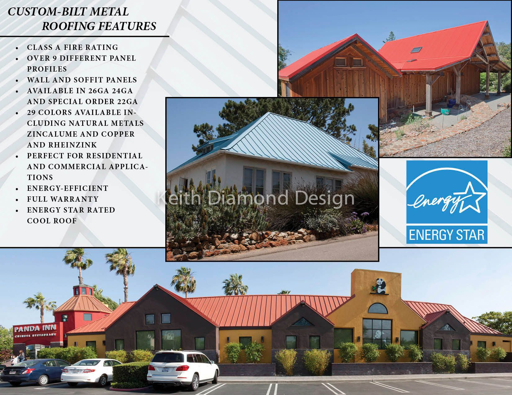 This Is Side Two Of A Trifold Brochure That I Created To Help Custom Bilt Metals Promote Their Fire Rated Metal Roofi Metal Roof Roofing House Styles